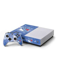 New York Rangers Frozen Xbox One S Console and Controller Bundle Skin