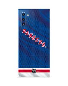 New York Rangers Home Jersey Galaxy Note 10 Skin