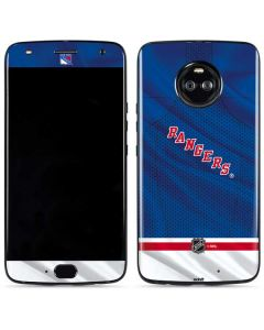 New York Rangers Home Jersey Moto X4 Skin