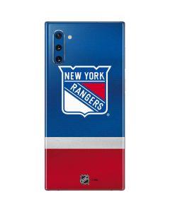 New York Rangers Jersey Galaxy Note 10 Skin