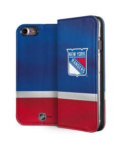 New York Rangers Jersey iPhone 8 Folio Case