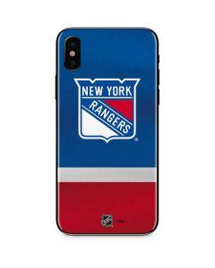 New York Rangers Jersey iPhone XS Skin