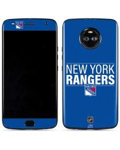 New York Rangers Lineup Moto X4 Skin