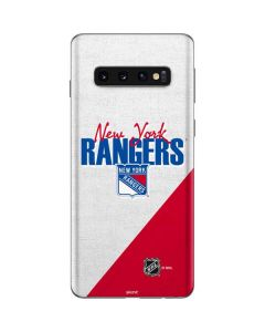 New York Rangers Script Galaxy S10 Skin