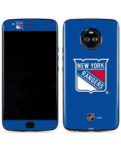 New York Rangers Solid Background Moto X4 Skin