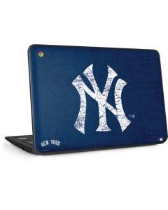 New York Yankees - Solid Distressed HP Chromebook Skin