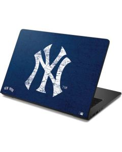 New York Yankees - Solid Distressed Dell Chromebook Skin