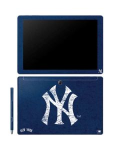 New York Yankees - Solid Distressed Galaxy Book 10.6in Skin