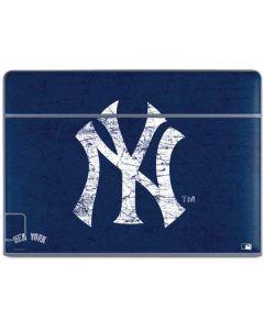 New York Yankees - Solid Distressed Galaxy Book Keyboard Folio 10.6in Skin
