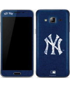 New York Yankees - Solid Distressed Galaxy J3 Skin