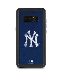 New York Yankees - Solid Distressed Galaxy Note 8 Waterproof Case