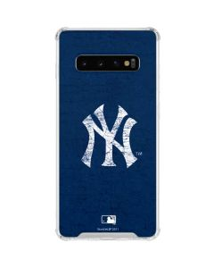 New York Yankees - Solid Distressed Galaxy S10 Clear Case