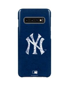 New York Yankees - Solid Distressed Galaxy S10 Lite Case