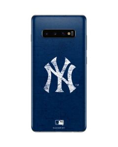 New York Yankees - Solid Distressed Galaxy S10 Plus Skin