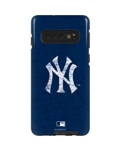 New York Yankees - Solid Distressed Galaxy S10 Pro Case