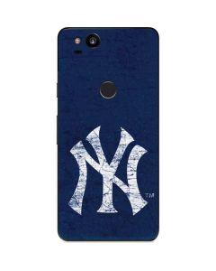 New York Yankees - Solid Distressed Google Pixel 2 Skin