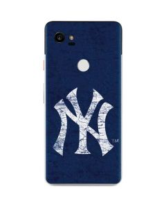 New York Yankees - Solid Distressed Google Pixel 2 XL Skin