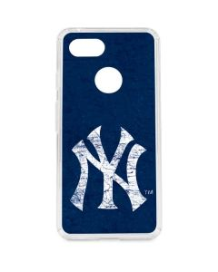 New York Yankees - Solid Distressed Google Pixel 3 Clear Case