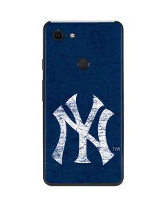 New York Yankees - Solid Distressed Google Pixel 3 XL Skin