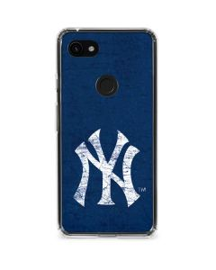 New York Yankees - Solid Distressed Google Pixel 3a Clear Case
