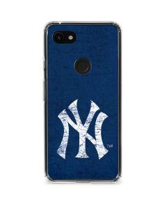 New York Yankees - Solid Distressed Google Pixel 3a XL Clear Case