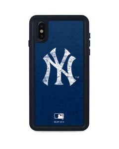 New York Yankees - Solid Distressed iPhone XS Max Waterproof Case