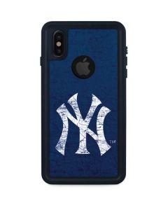 New York Yankees - Solid Distressed iPhone XS Waterproof Case