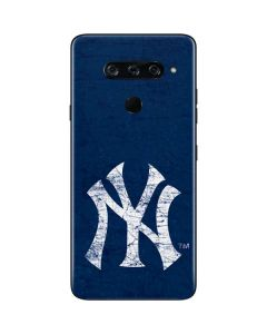 New York Yankees - Solid Distressed LG V40 ThinQ Skin