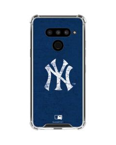 New York Yankees - Solid Distressed LG V50 ThinQ Clear Case
