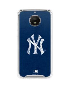 New York Yankees - Solid Distressed Moto G5S Plus Clear Case