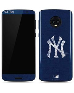 New York Yankees - Solid Distressed Moto G6 Skin