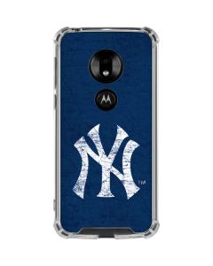 New York Yankees - Solid Distressed Moto G7 Play Clear Case