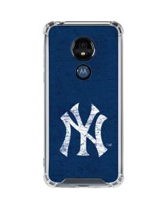 New York Yankees - Solid Distressed Moto G7 Power Clear Case