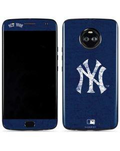 New York Yankees - Solid Distressed Moto X4 Skin