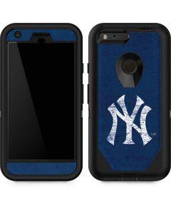 New York Yankees - Solid Distressed Otterbox Defender Pixel Skin