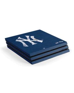 New York Yankees - Solid Distressed PS4 Pro Console Skin