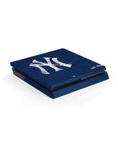 New York Yankees - Solid Distressed PS4 Slim Skin