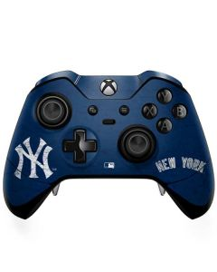 New York Yankees - Solid Distressed Xbox One Elite Controller Skin