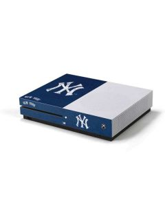 New York Yankees - Solid Distressed Xbox One S Console Skin