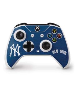 New York Yankees - Solid Distressed Xbox One S Controller Skin