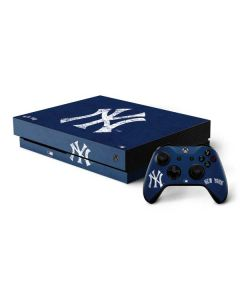New York Yankees - Solid Distressed Xbox One X Bundle Skin
