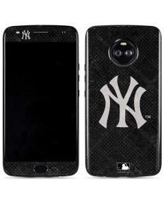 New York Yankees Dark Wash Moto X4 Skin