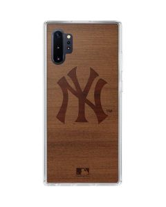 New York Yankees Engraved Galaxy Note 10 Plus Clear Case