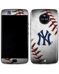 New York Yankees Game Ball Moto X4 Skin