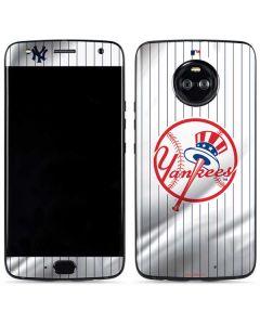 New York Yankees Home Jersey Moto X4 Skin