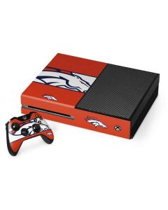 Denver Broncos Zone Block Xbox One Console and Controller Bundle Skin