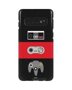 Nintendo Controller Evolution Galaxy S10 Pro Case