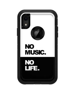 No Music No Life Otterbox Defender iPhone Skin