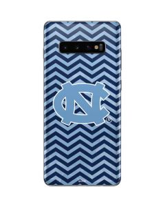North Carolina Chevron Print Galaxy S10 Plus Skin