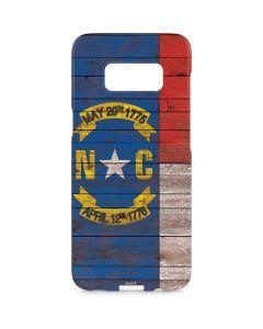 North Carolina Flag Dark Wood Galaxy S8 Plus Lite Case